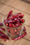 Portion of red Chillis Royalty Free Stock Photos