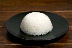 Portion of rice on the plate Stock Photos