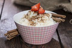Portion of Rice Pudding with Cinnamon Royalty Free Stock Photography