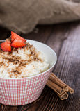 Portion of Rice Pudding with Cinnamon Royalty Free Stock Photo