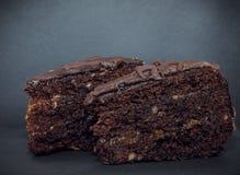 Portion of Sacher cake Stock Photo