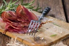 Portion of sliced Ham Stock Photos