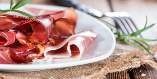 Portion of sliced Ham Royalty Free Stock Image