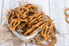 Portion of small Pretzels Stock Image