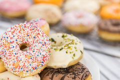 Donuts fresh made; selective focus Stock Photo