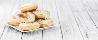 Donuts fresh made; selective focus Royalty Free Stock Images