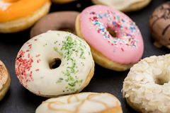 Donuts fresh made; selective focus Royalty Free Stock Image