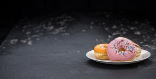 Donuts fresh made; selective focus Stock Image