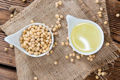 Portion of Soy Oil Royalty Free Stock Photos