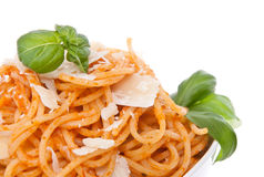 Portion of Spaghetti in a bowl Royalty Free Stock Image