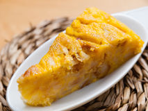 Portion of Spanish omelette Royalty Free Stock Image