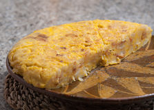 Portion of Spanish omelette Royalty Free Stock Photo