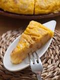 Portion of Spanish omelette Stock Image