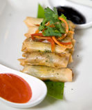 Portion of spring roll Stock Photo