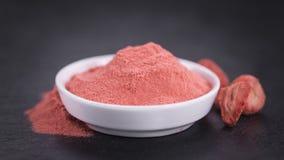 Portion of Strawberry powder on a slate slab Stock Photo