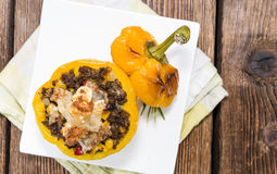 Portion of Stuffed Peppers Stock Images