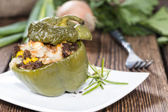 Portion of Stuffed Peppers Royalty Free Stock Photos
