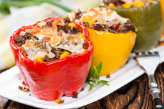 Portion of Stuffed Peppers Royalty Free Stock Photo