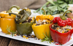 Portion of Stuffed Peppers Royalty Free Stock Image