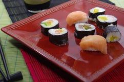Portion sushi Stock Photo