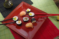Portion sushi Stock Photos