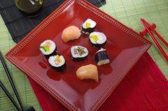 Portion sushi Stock Image