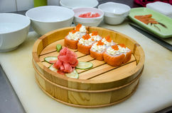 Portion of sushi Royalty Free Stock Photography
