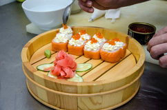 Portion of sushi Royalty Free Stock Image