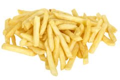 Portion of Take Out Fries or Chips Stock Photos
