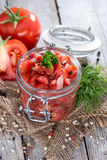 Portion of Tomatoe Salad Stock Photography