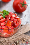 Portion of Tomatoe Salad Royalty Free Stock Photo