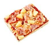 Portion of tropical Italian Hawaiian pizza Royalty Free Stock Photo
