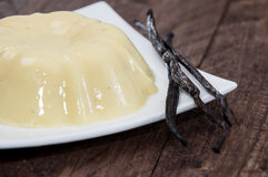 Portion of Vanilla Pudding on a plate Royalty Free Stock Photography