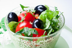 Portion of vegetable salad Stock Photos