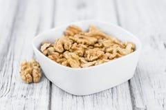 Portion of Walnut kernels stock photos