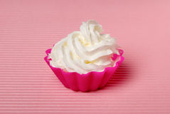 Portion of whipped cream Stock Photos