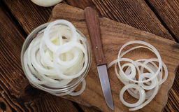 Portion of white Onions Stock Image