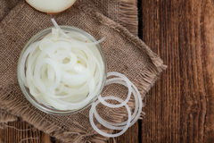 Portion of white Onions Royalty Free Stock Image