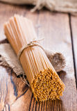 Portion of wholemeal Spaghetti Royalty Free Stock Photos