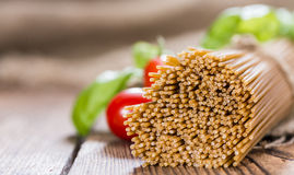 Portion of wholemeal Spaghetti Royalty Free Stock Photo