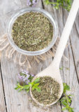 Portion of Winter Savory Royalty Free Stock Photography