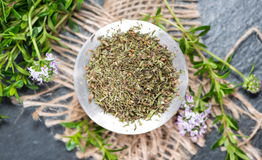 Portion of Winter Savory Stock Photography