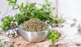 Portion of Winter Savory Royalty Free Stock Photos
