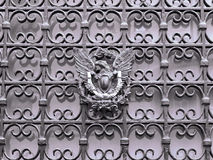 Portion of a wrought iron fence Stock Photography