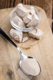 Portion of Yeast (fresh and dried) stock images