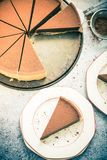 Portionchokladkränkningen, tappning tonned effekt Fotografering för Bildbyråer