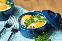 Portioned casserole από τα λαχανικά και τα αυγά στα ιταλικά ύφος Στοκ Φωτογραφίες