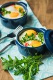 Portioned casserole από τα λαχανικά και τα αυγά στα ιταλικά ύφος Στοκ Εικόνες