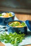 Portioned casserole από τα λαχανικά και τα αυγά στα ιταλικά ύφος Στοκ εικόνες με δικαίωμα ελεύθερης χρήσης