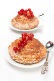 Portioned cottage cheese cakes with cinnamon Royalty Free Stock Photo